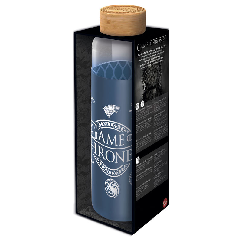 Game of Thrones silicone cover glass bottle 585ml