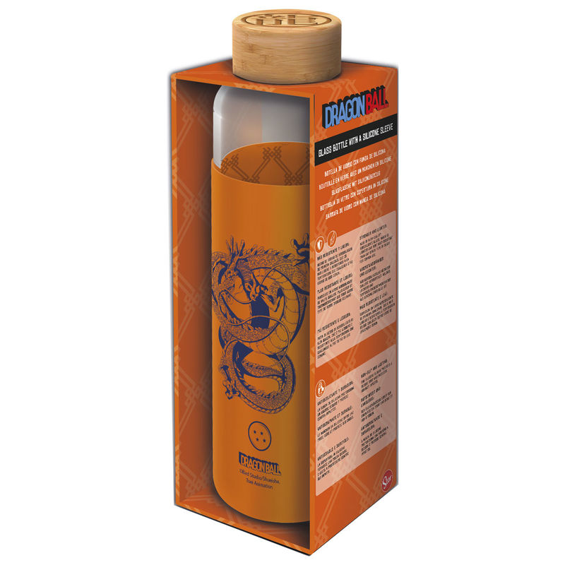 Dragon Ball Z silicone cover glass bottle 585ml