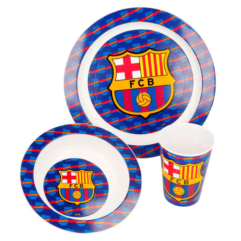 F.C Barcelona micro breakfast set