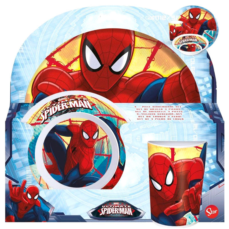 Marvel Spiderman melamine set