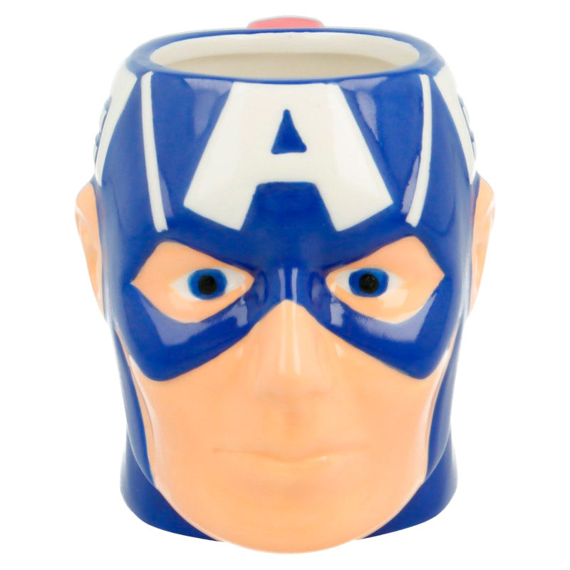 Marvel Head Captain America 3D mug