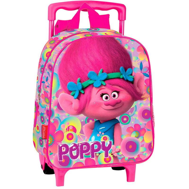 Trollid Poppy Lilled seljakott-käru 28cm