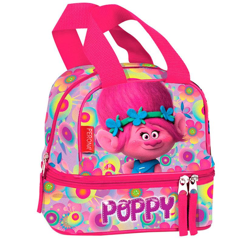 Trolls Poppy Flowers double pocket lunch bag