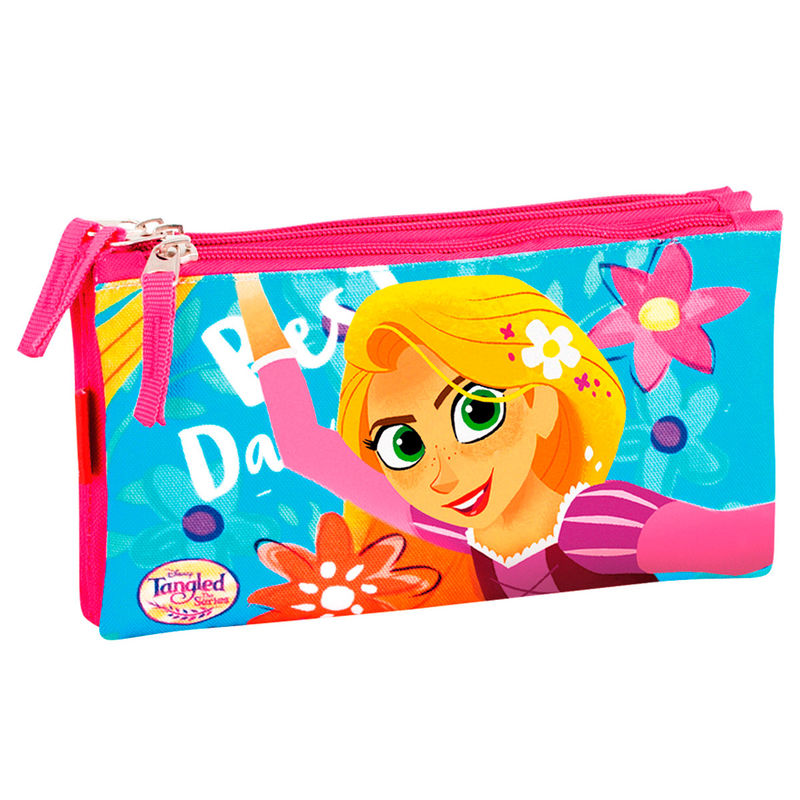 Disney Rapunzel triple pencil case
