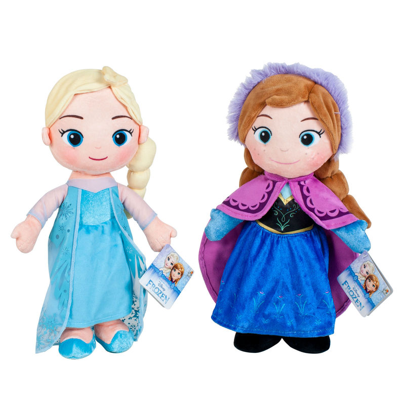 Disney Elsa Anna Frozen soft plush toy 30cm