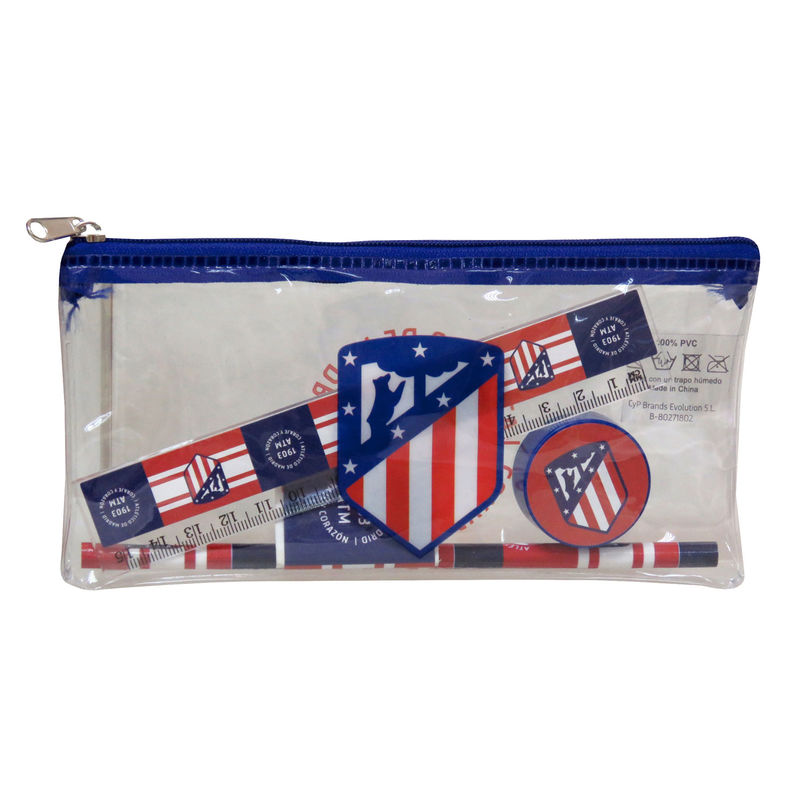 Atletico Madrid pencil case + stationery set