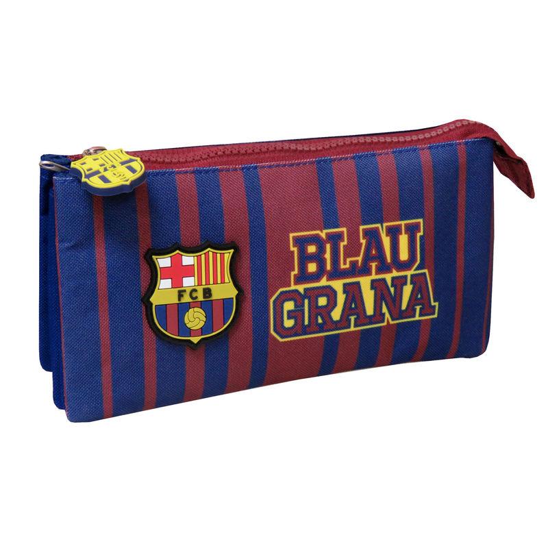 FC Barcelona triple pencil case