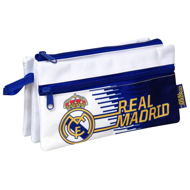 Real Madrid triple pencil case