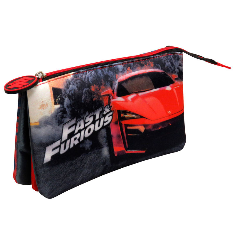 Fast and Furious triple pencil case