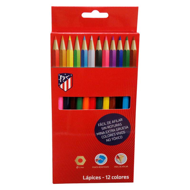 Atletico de Madrid colors pencils box