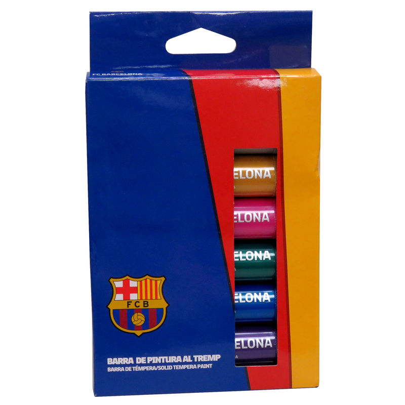 FC Barcelona solid tempera paint in bar box