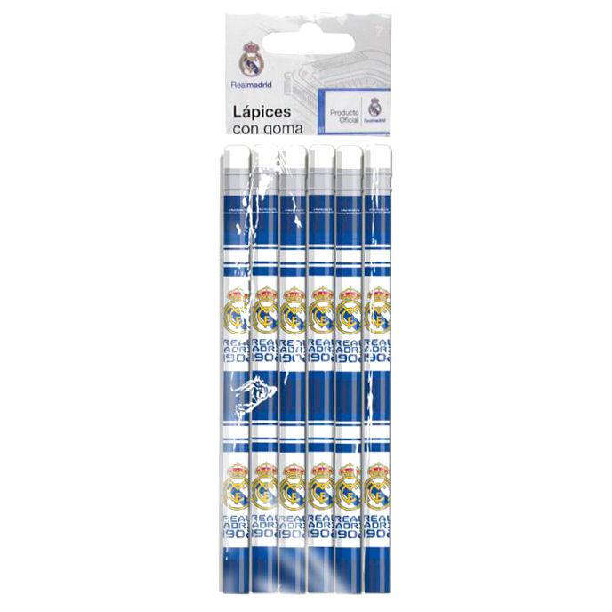 Real Madrid set 6 pencil case with eraser