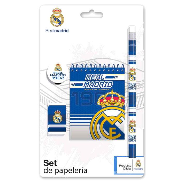 Real Madrid stationery set + bloc