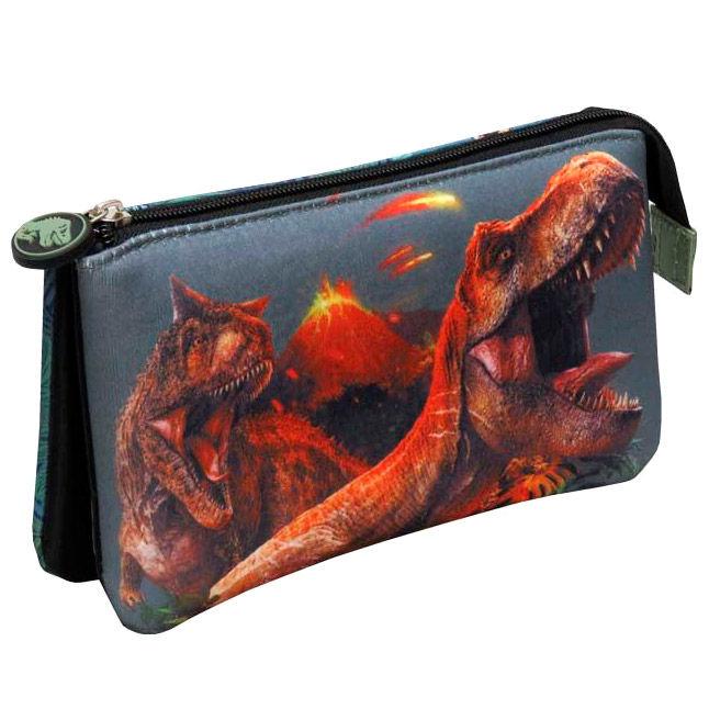 Jurassic World triple pencil case