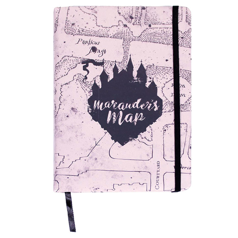Harry Potter Marauders Map premium A5 notebook