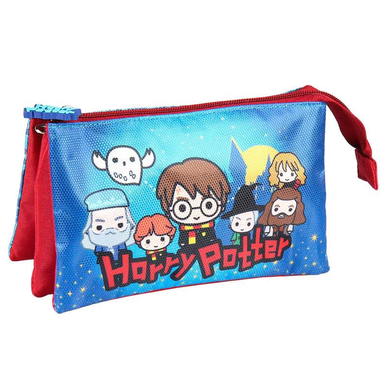 Harry Potter Chibi triple pencil case
