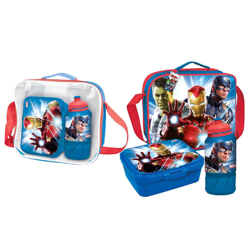 Marvel Avengers lunch bag with accessories