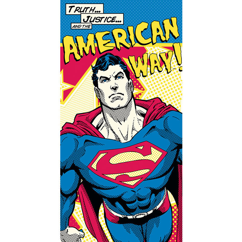 DC Superman American Way cotton towel