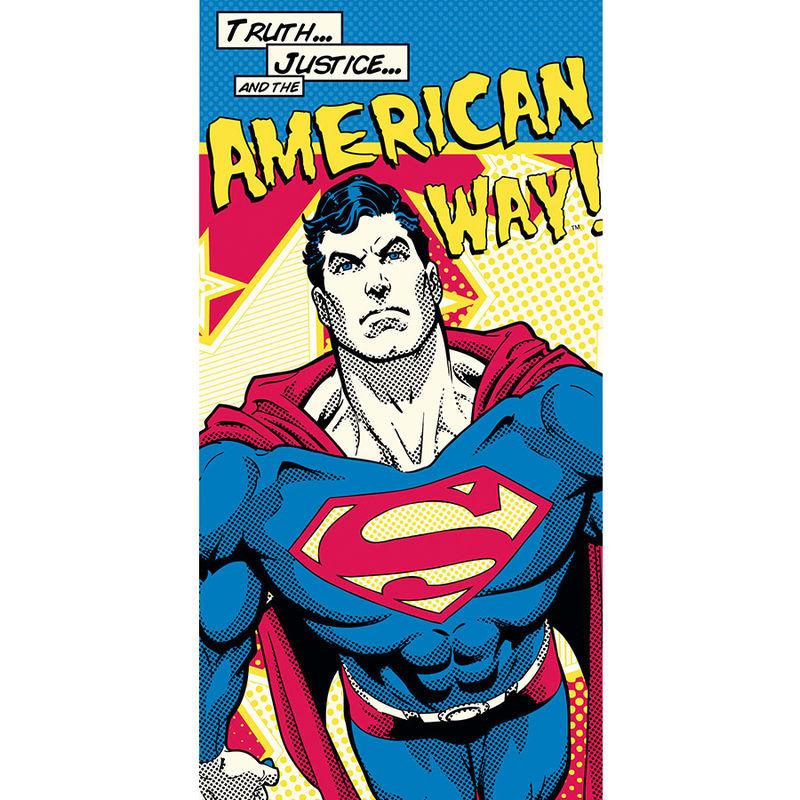 DC Superman American Way cotton towel