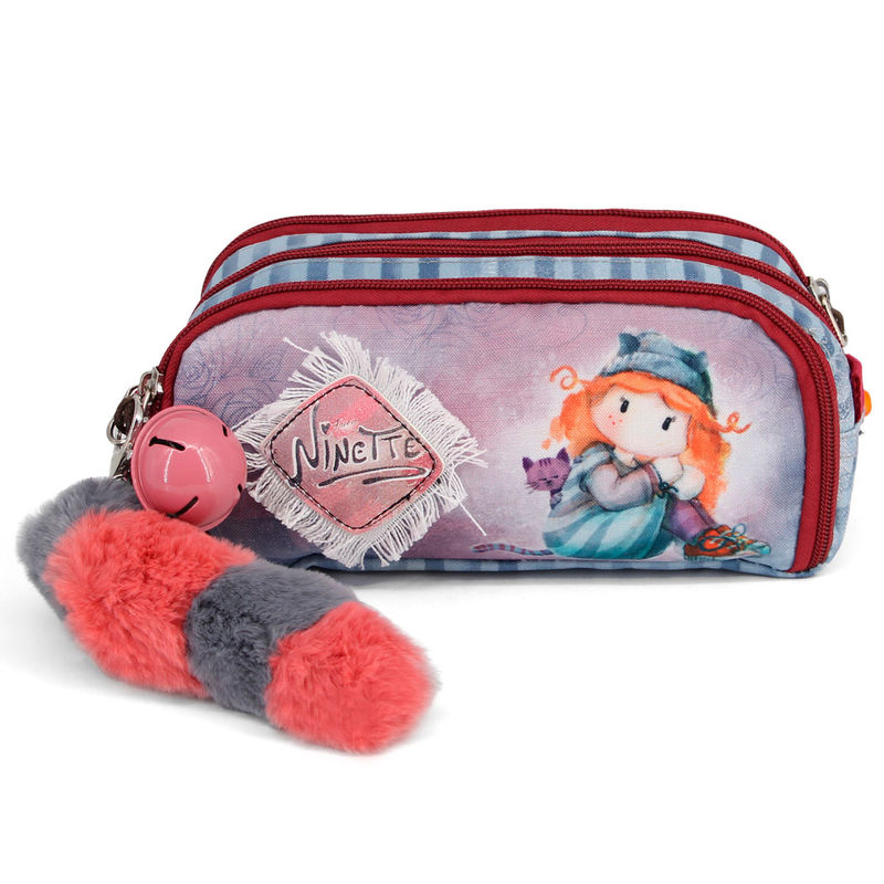 Ninette Forever triple pencil case