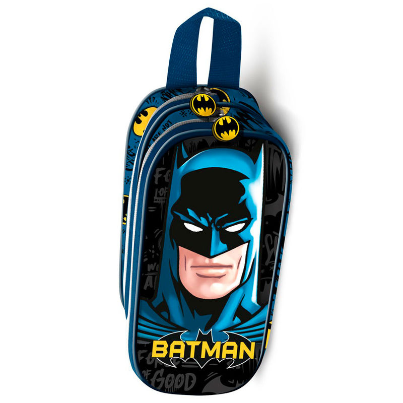 DC Comics Batman Knight 3D double pencil case