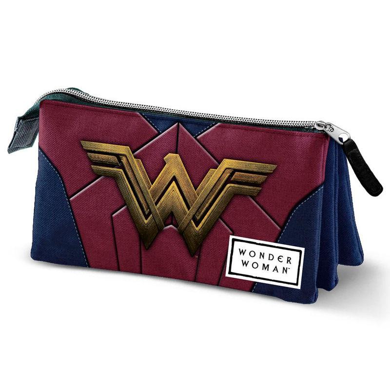 DC Comics Wonder Woman triple pencil case