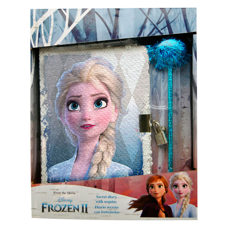 Disney Frozen 2 sequins diary + pen set