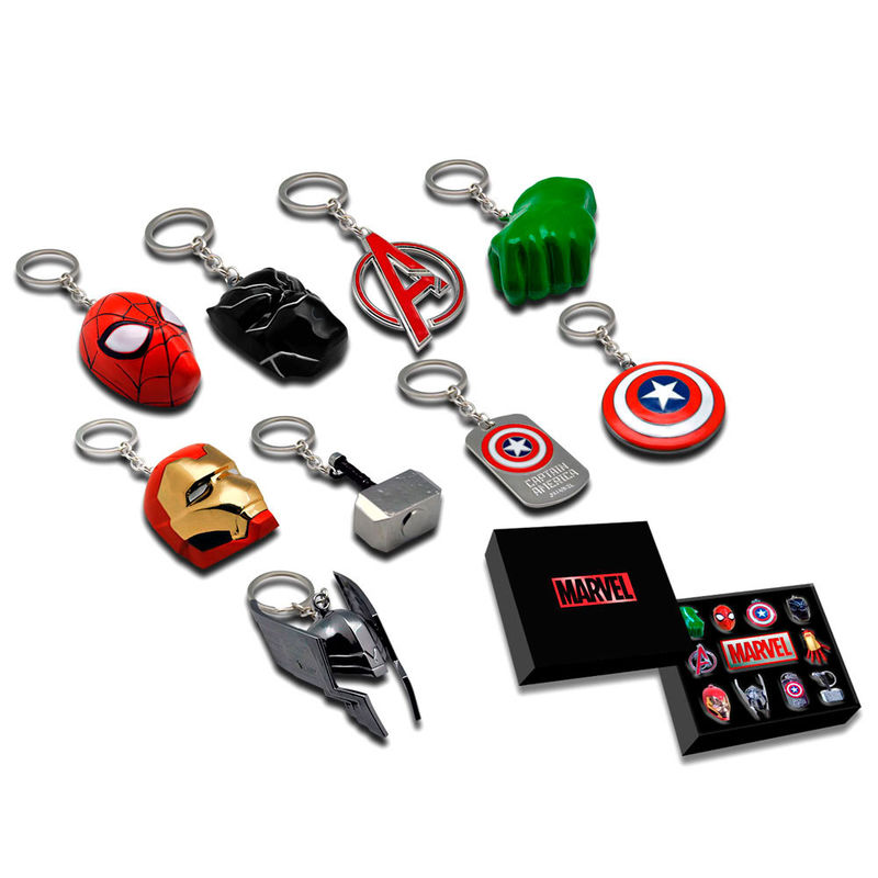 Marvel assorted 3D keyring collection box