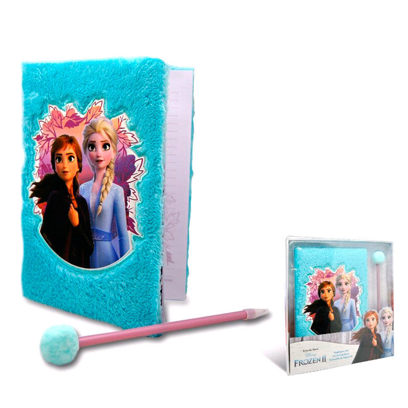 Disney Frozen 2 plush diary + pompom pen