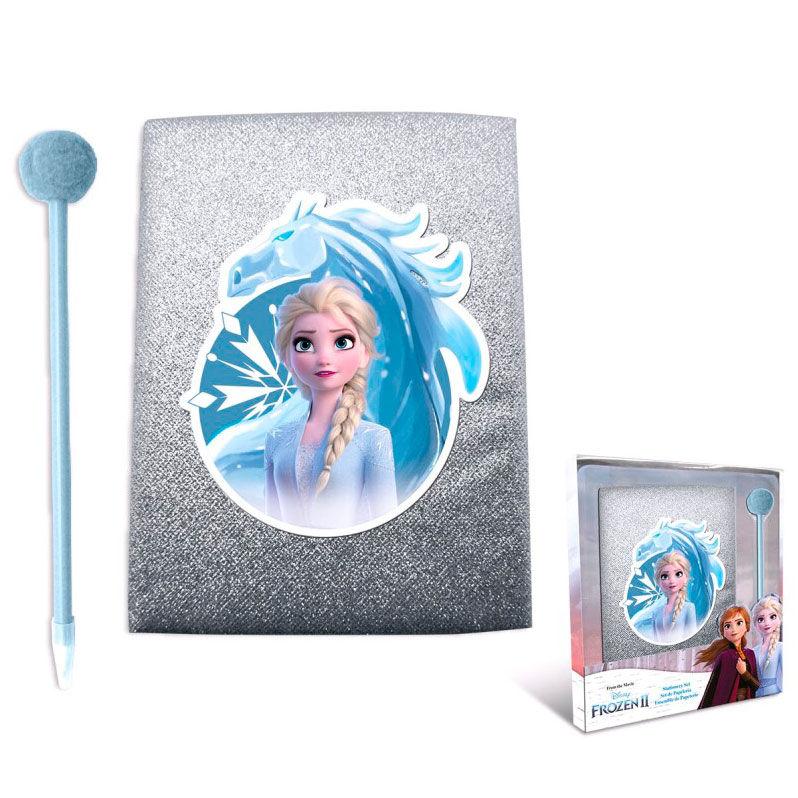 Disney Frozen 2 glitter diary + pompom pen
