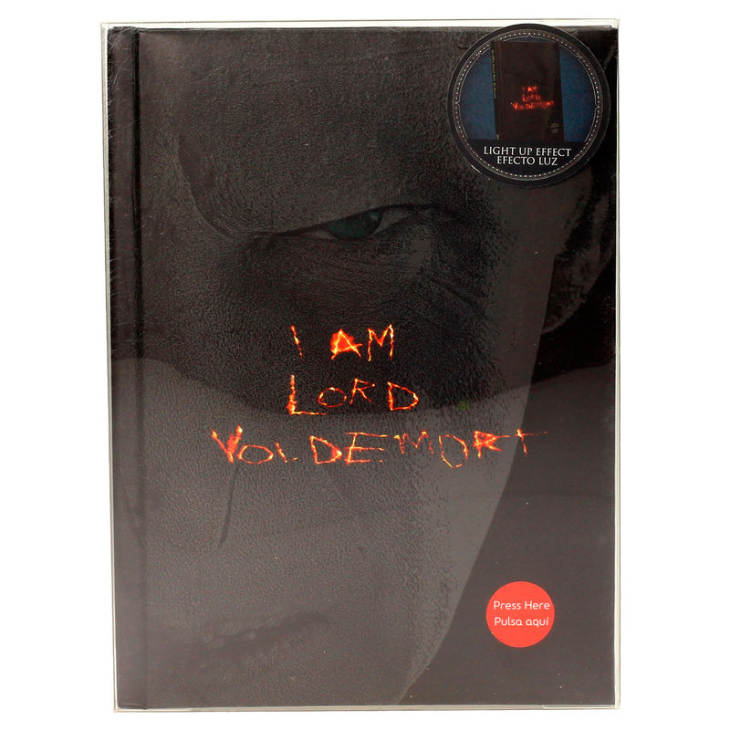 Harry Potter Lord Voldemort notebook with light