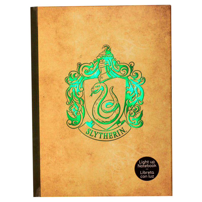 Harry Potter Slytherin notebook with light
