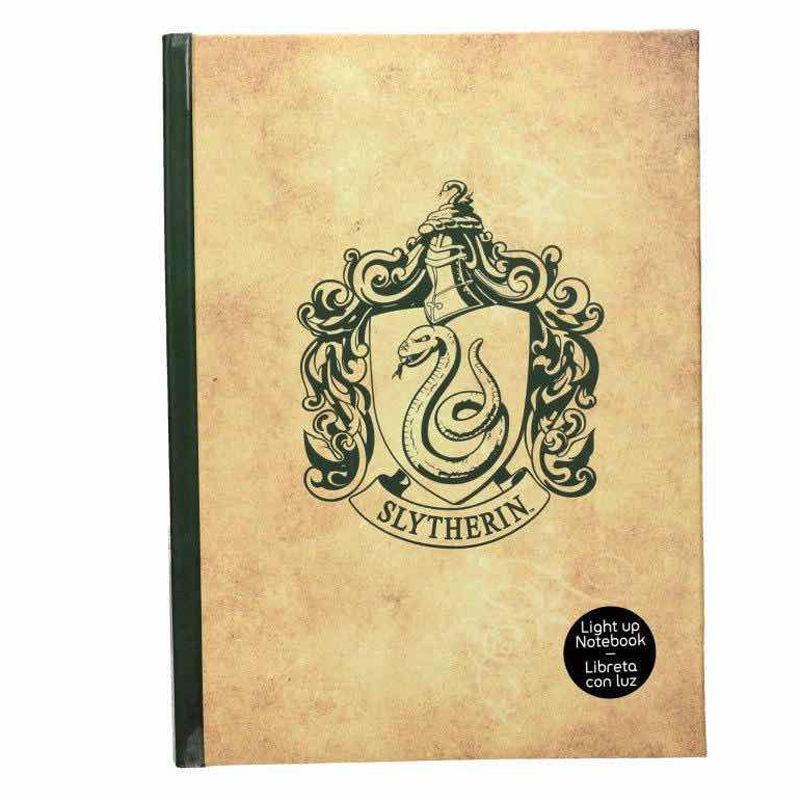 Harry Potter Slytherin notebook with light