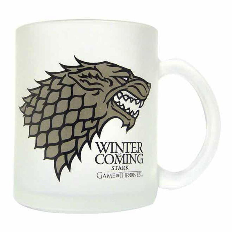 Game of Thrones Stark translucent glass mug
