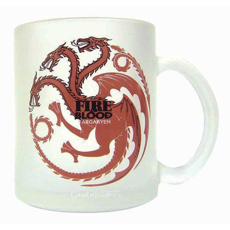 Game of Thrones Targaryen translucent glass mug