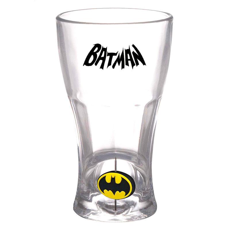 DC Comics Batman logo 3D glass