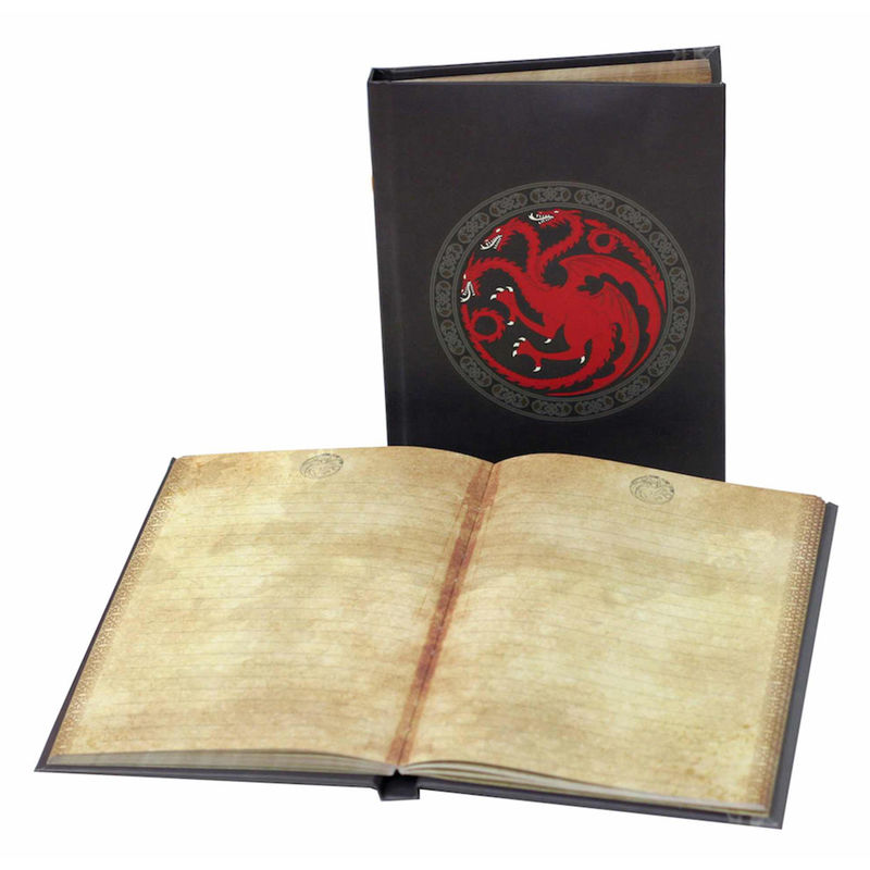 Game of Thrones Targaryen notebook with light