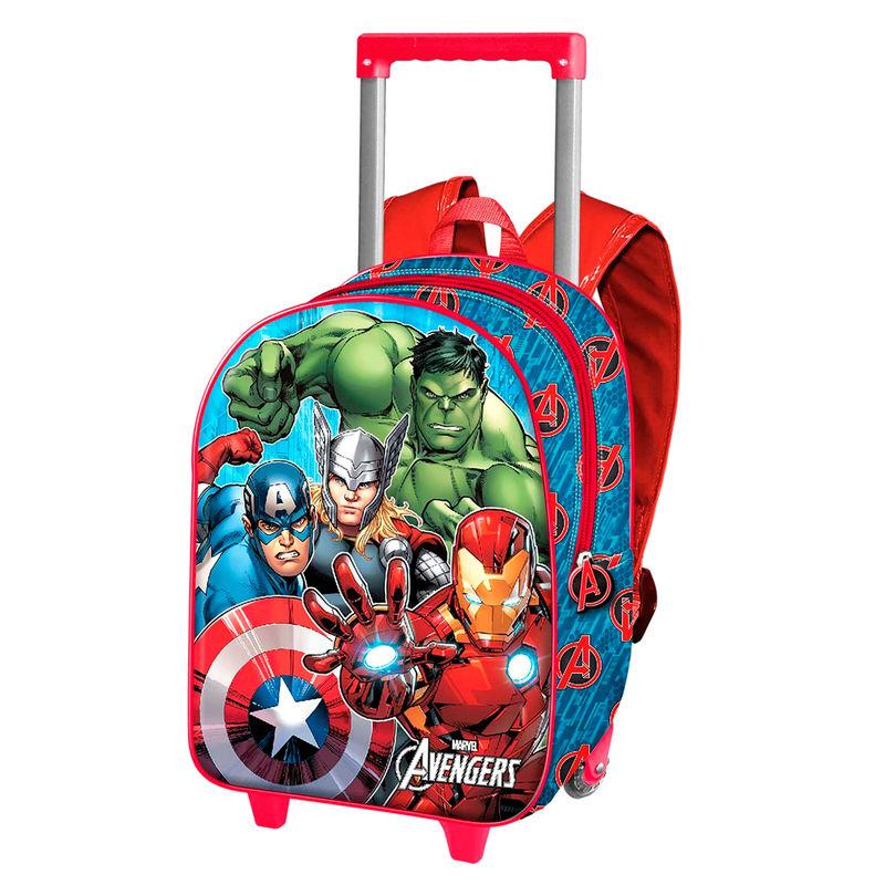Marvel Avengers 3D seljakott-käru 34cm