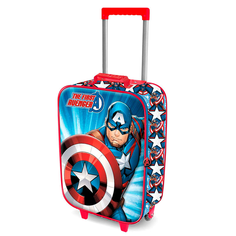 Marvel Captain America 3D trolley suitcase 52cm