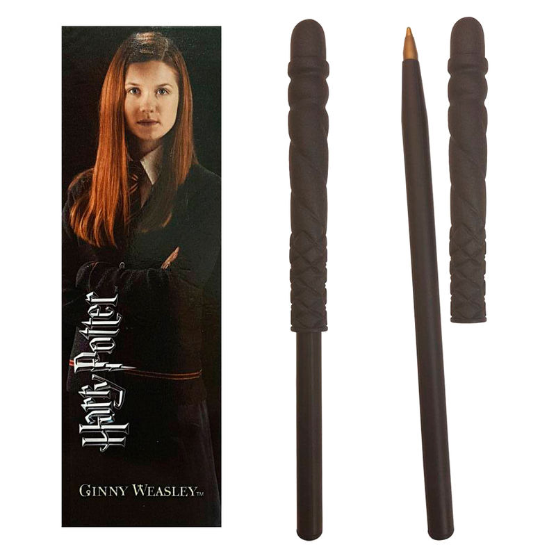 Harry Potter Ginny Weasley wand pend and bookmark