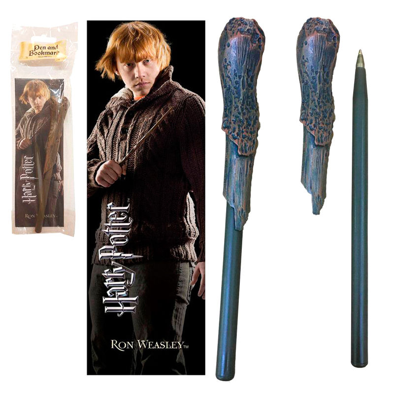 Harry Potter Ron Weasley wand pend and bookmark