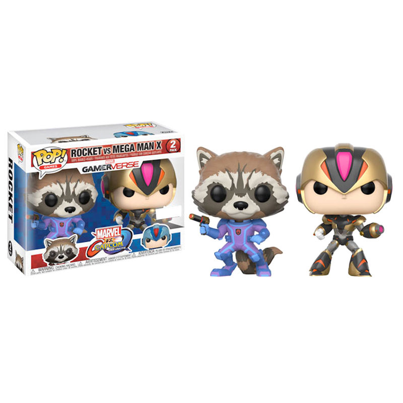 POP pack 2 figures Capcom vs Marvel Rocket vs MegaMan X Exclusive