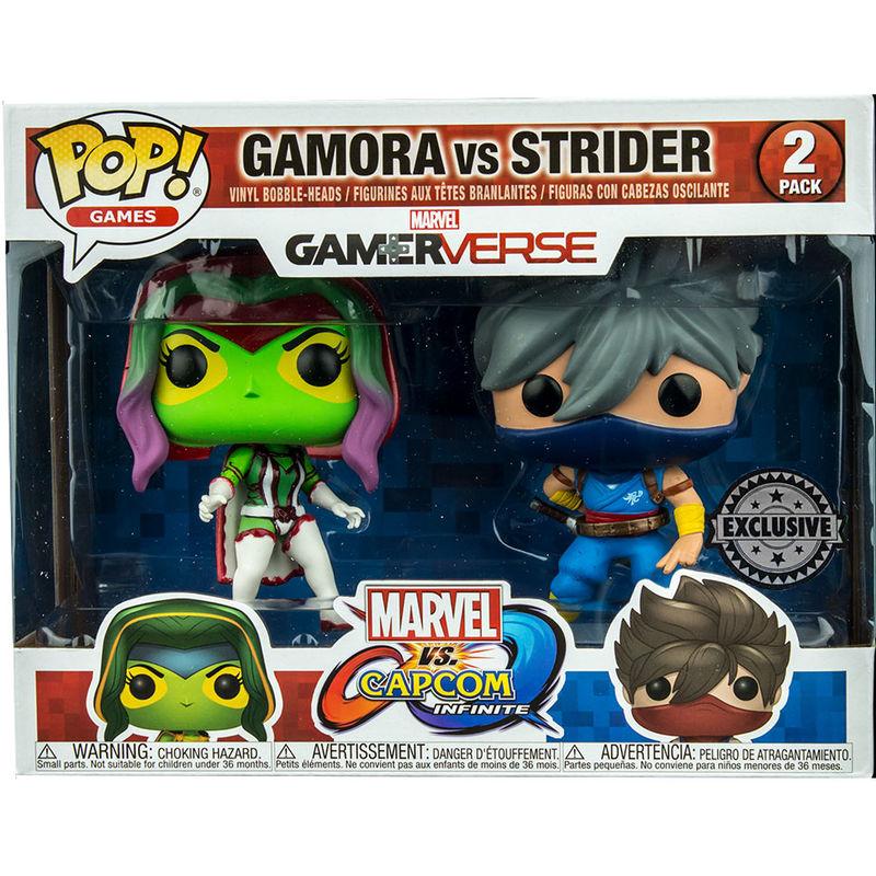 POP! pack 2 figures Capcom vs Marvel Gamora vs Strider Exclusive