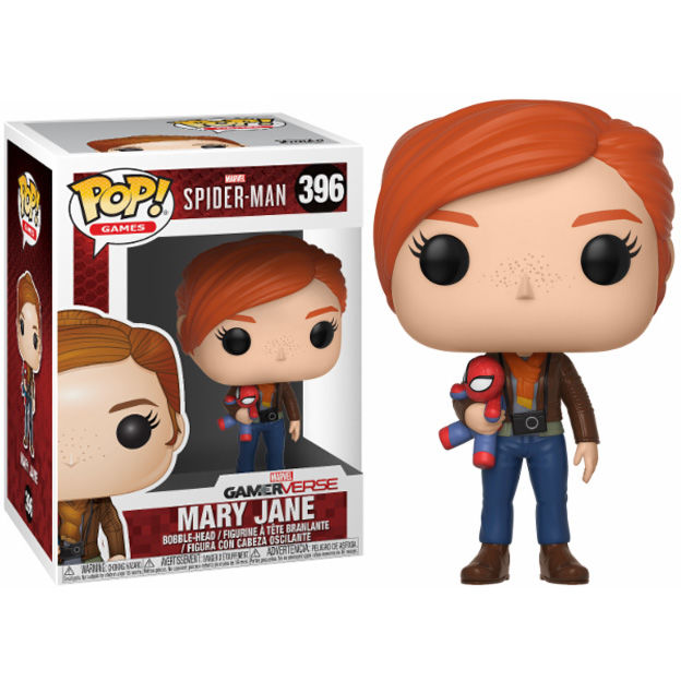 POP figure Marvel Spider-Man Mary Jane with plush
