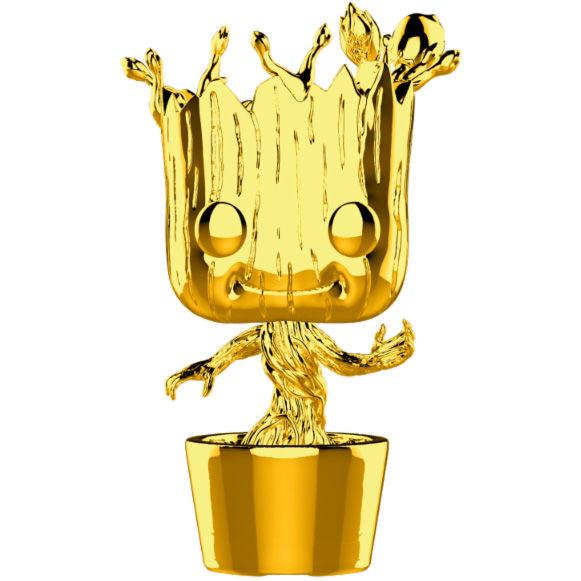 POP figure Marvel Studios 10 Groot Gold Chrome