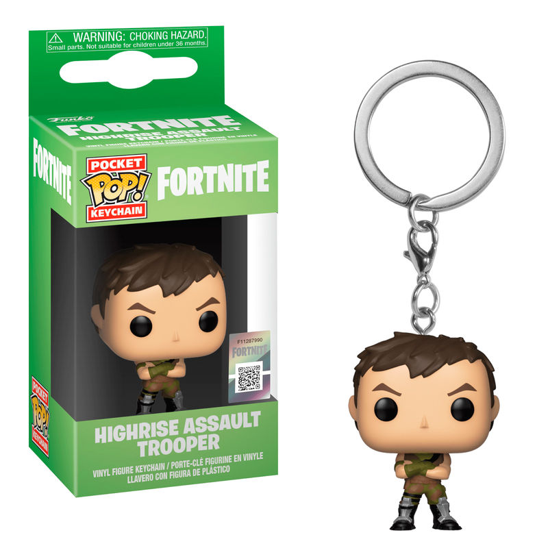 Pocket POP keychain Fortnite Highrise Assault Trooper